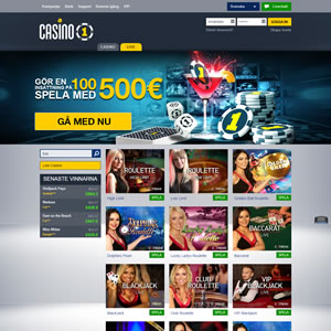 Casinospelen hos Casino1