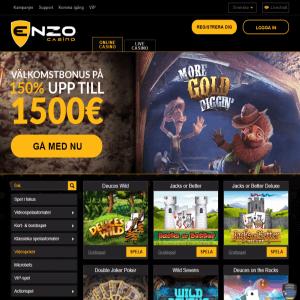 Enzo Casino spelutbud